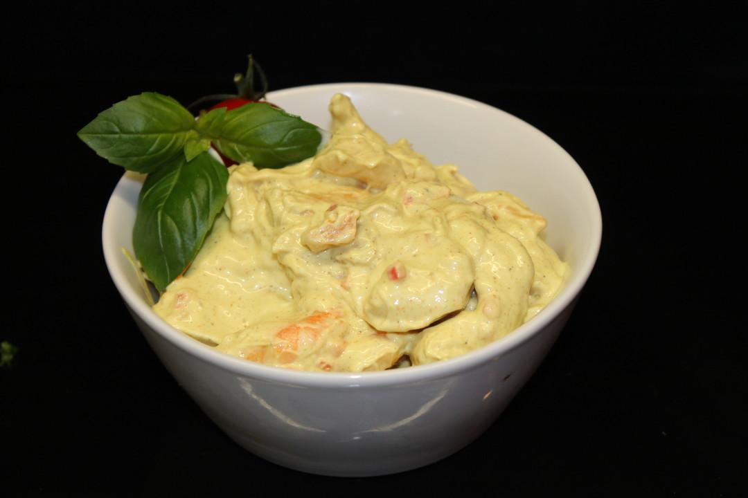 Scampi in currysaus - Slagersonline