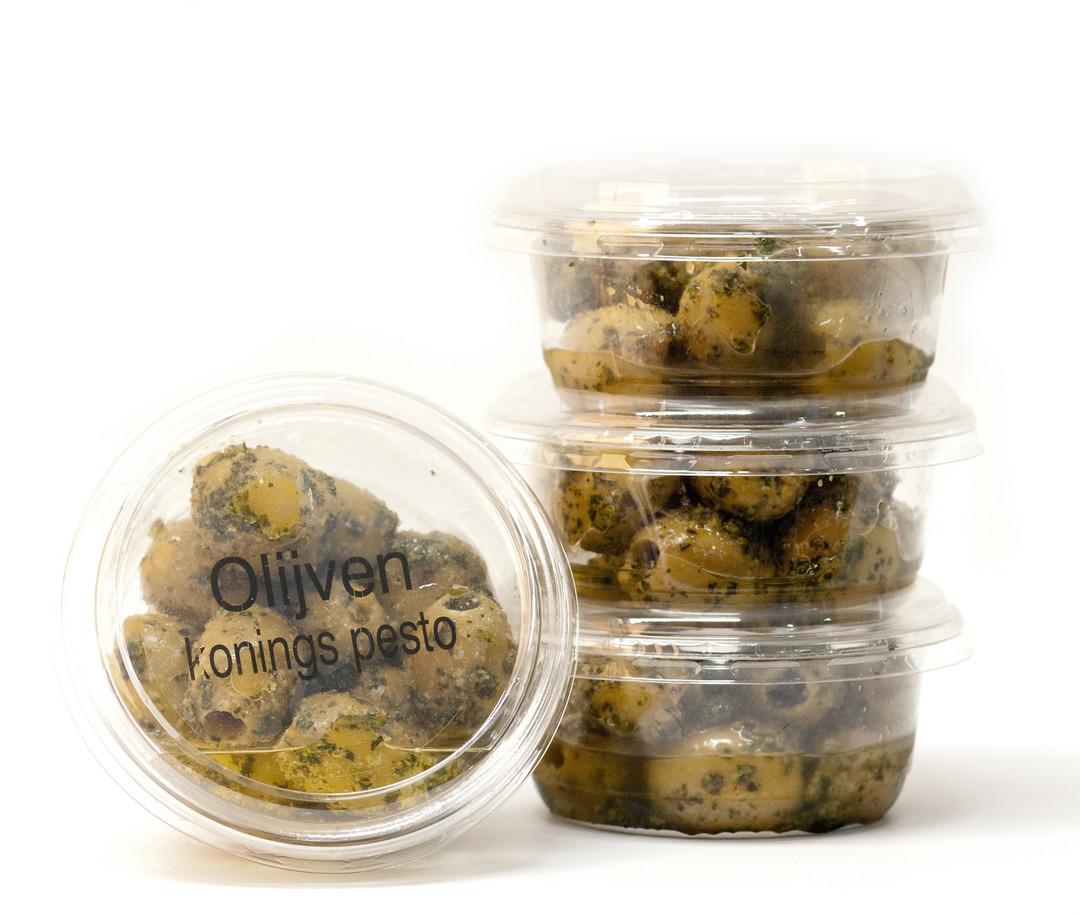 Koningsolijven met Pestokruiden (100 Gram) - Slagersonline