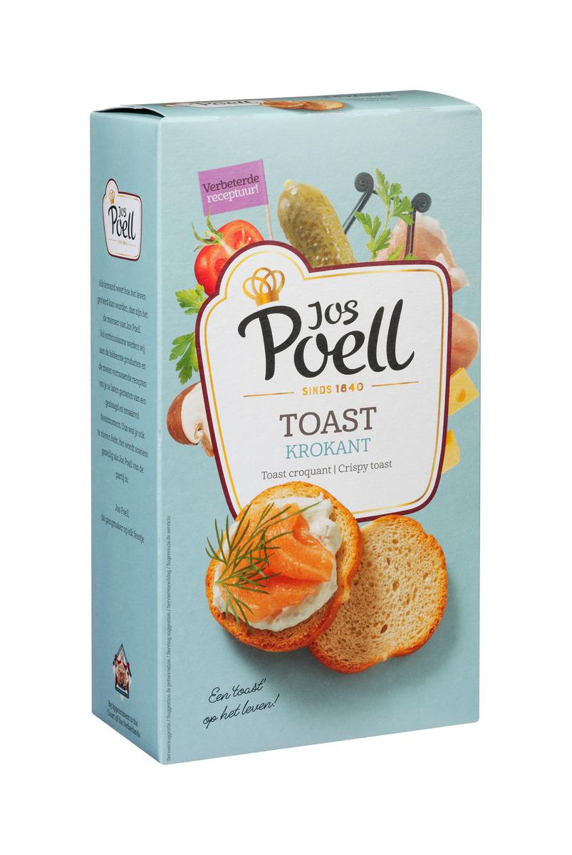Extra Krokante Toast Rond Jos Poell (100 Gram) - Slagersonline