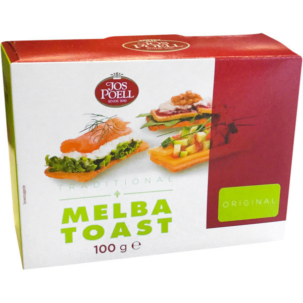 Melba Toast Recht Jos Poell (100 Gram) - Slagersonline