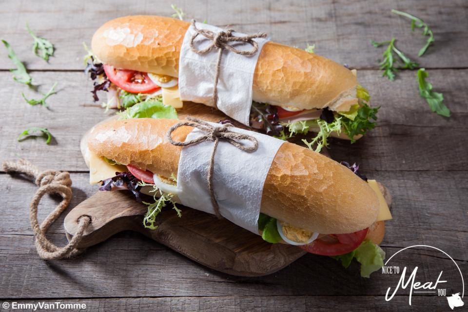Broodje grijze garnaalsalade - Slagersonline