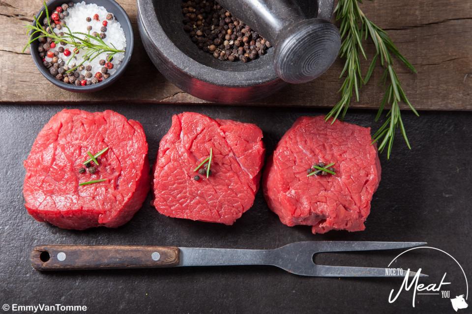 Biefstuk wit - blauw - Slagersonline