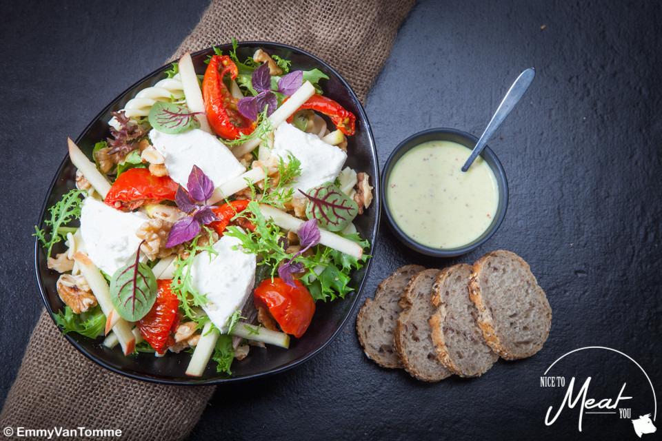Salade geitenkaas met appel - Slagersonline