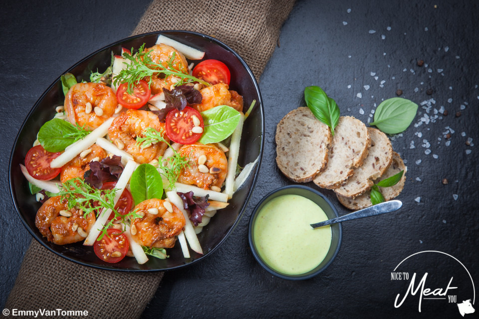 Salade scampi met appel - Slagersonline